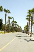 Paseo marítimo peatonal paseo limassol lemesos Chipre — Foto de Stock
