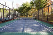 Platform tennis paddle court — Stock Photo