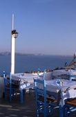 Restauracja wyspy greckie — Zdjęcie stockowe