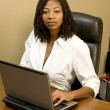 Stock Photo: Pretty womin office