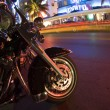 Motorcycle south beach night scene - Stock Photo