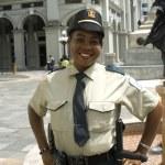 Police woman guayaquil ecuador — Stock Photo #13396200