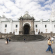 Cathedral national on plaza grande quito ecuador - Stock Photo