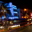 Night scene ocean drive miami — Stock Photo #13396247