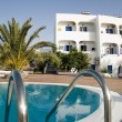 Swimming pool greek island hotel - Foto de Stock