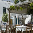 Stock Photo: Street scene taverna