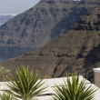 Stock Photo: Volcanic cliffs santorini
