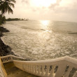 Stairway to the caribbean sea nicaragua — Stock Photo