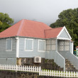 Typical house architecture capital Oranjestad St. Eustatius Nethlands — Stock Photo