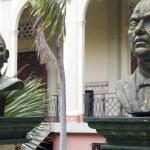 Постер, плакат: Statue Lolita Soreano Julian Guerrero Palacio Nacional Managua Nicaragua