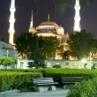 Stock Photo: Mosque Hippodrome park night Istanbul Turkey