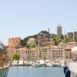 Old City between two yachts Cannes French Riviera Cote d'Azur — Stock Photo #13399953