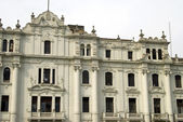 Old grand hotel on plaza san martin lima peru — Stock Photo