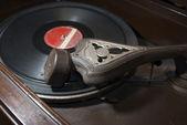 Antique record player ecuador — Stock Photo