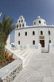 Church oia santorini greek islands — Stock Photo