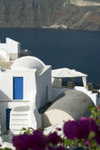 Impostazione di santorini incredibile vista patio — Foto Stock