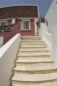 Stairway to greek island house — Stock Photo