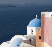 Greek church santorini island — Stock Photo