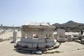 Agora columns dome delos greece — Stock Photo
