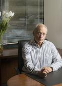 Senior executive in office — Stock Photo