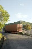 Verlaten vrachtwagen snelweg bequia — Stockfoto
