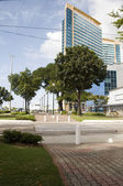 Independence plaza brian lara promenade port of spain trinidad — Stock Photo