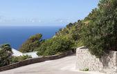 «дорога» саба нидерландские антильские острова — Стоковое фото