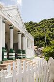 Vládní budova saba holandské Nizozemské Antily — Stock fotografie