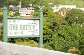 Hand painted sign The Bottom town Saba Netherlands Antilles — Fotografia Stock
