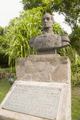 Estátua de simon bolivar windwardside saba antilhas — Foto Stock