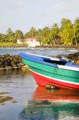 Fishing boat Caribbean Sea Corn Island Nicaragua — Stock Photo
