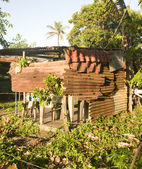 Zinc house building Big Corn Island Nicaragua — ストック写真