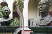 Statue Lolita Soreano Julian Guerrero Palacio Nacional Managua Nicaragua — Stock Photo