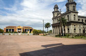 Cathedral of Santiago Presidential Palace Plaza of Revolution Managua Nicaragua — Stock Photo