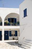 Classic Cyclades architecture Ios Greek Island — Stock Photo