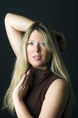 Sexy woman blond hair — Stock Photo