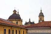 建筑历史的区屋顶教堂拉坎德拉里亚波哥大 — 图库照片