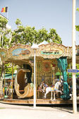 Vieux carrousel façonné à cannes riviera français de france — Photo