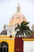 Rooftop view Iglesia de Santo Domingo Cartagena Colombia South America — Stock Photo