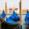 Gondola boats Grand Canal Venice Italy — Stock Photo