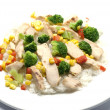 Chicken breast slices with vegetables — Stock Photo #13400908