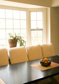 Dining room table with fruit bowl — Foto de Stock