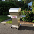 Stock Photo: Stainless steel barbecue grill
