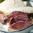 Stock Photo: Corned beef sandwich rye bread
