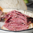Stock Photo: Pastrami sandwich rye bread