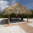 Stock Photo: Tiki hut thatch roof coco plum beach floridkeys