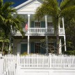 Stock Photo: Typical home architecture key west florida