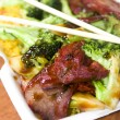 Royalty-Free Stock Photo: Chinese roast pork with broccoli