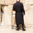 Stock Photo: Hasidic Chassidic Jews praying at Western Wall Jerusalem Israel