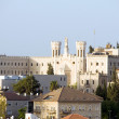 Rooftop view of church and architecture Jerusalem Israel  — Stock Photo